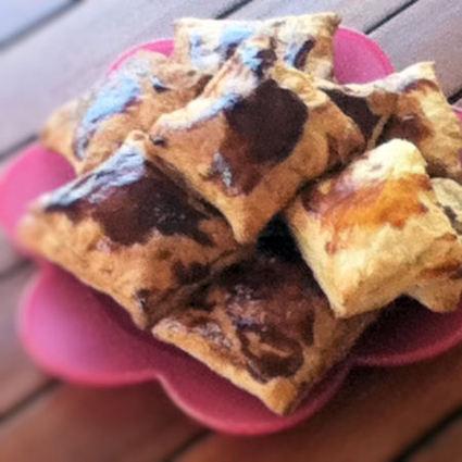 Recette de ravioles feuilletées au nutella