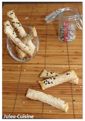 Recette de feuilletés sésame parmesan
