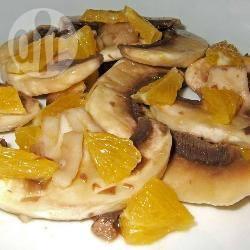 Recette salade de champignons à l'orange – toutes les recettes ...
