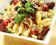 Recette salade de pâtes poulet et tomates