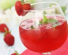 Recette soupe de champagne framboise fraise