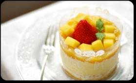 Mousse glacée légère à la mangue pour 6 personnes