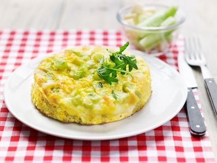 Recette omelette de concombre et tomme