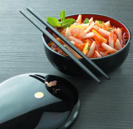 Recette de salade acidulée surimi-cacahuète