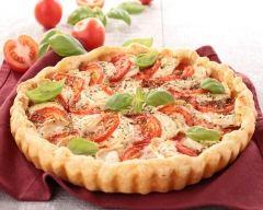 Recette tarte chèvre et tomate