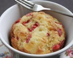 Recette flan à la rhubarbe et aux fraises