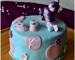 Recette gâteau de naissance naissance fourré à la ganache ...