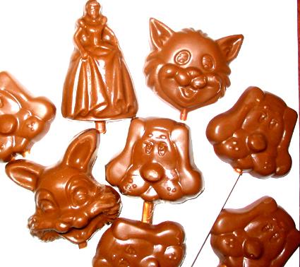 Recette de sucettes en chocolat