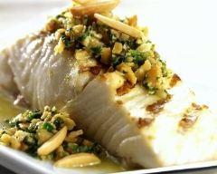 Recette filet de poisson grillé, salsa d'amandes