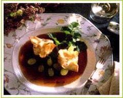 Recette aumônières de foie gras et leur sauce porto