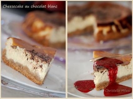 Recette de cheesecake au chocolat blanc, mc vitie's et copeaux