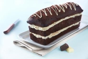 Recette de moelleux chocolat noir fourré chocolat blanc facile et ...