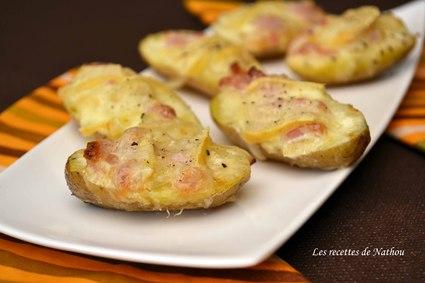 Pommes de terre façon tartiflette pour l'apéro