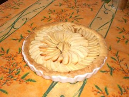 Recette de tarte normande aux pommes recette - Recette tarte au pomme normande ...