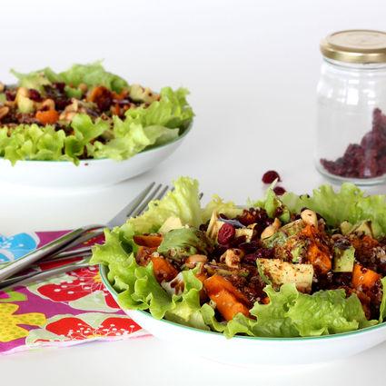 Recette de salade de patate douce quinoa et haricots azukis
