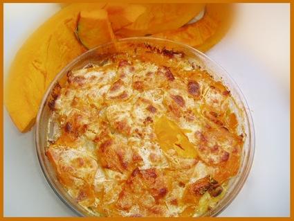 Recette de gratin de potimarron, pommes de terre et jambon
