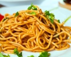 Recette spaghettis au curry
