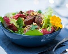 Recette salade de boeuf mariné et grillé aux épices