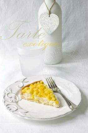 Recette de tarte ananas sur crème chocolat blanc-coco-passion