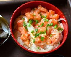 Recette chirashi au saumon