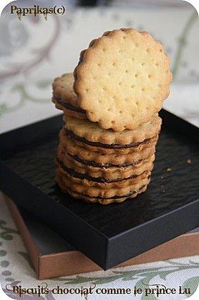Recette de biscuit chocolat comme le prince lu