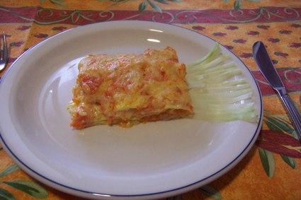 Recette de lasagnes aux poireaux et potiron