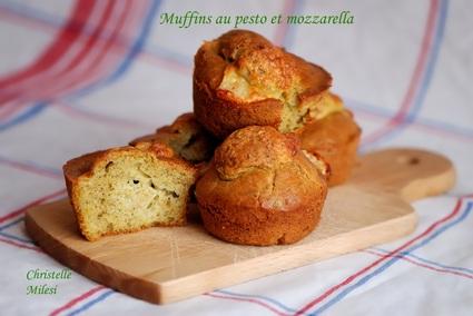 Recette de muffins au pesto et mozzarella