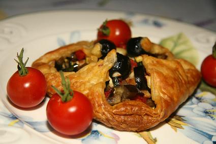Recette de paniers feuilletés aux légumes du soleil