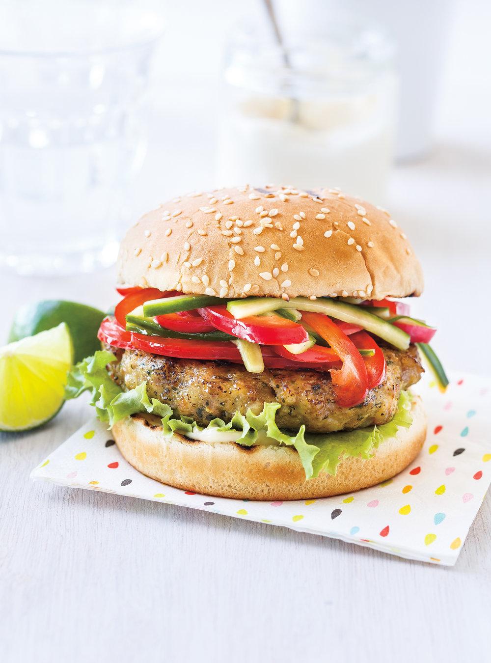 Burgers de porc et de crevettes | ricardo