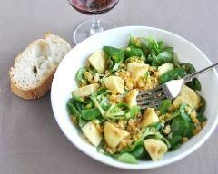 Recette salade aux quenelles sautées