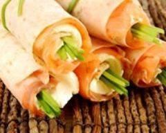 Recette wraps de saumon fumé