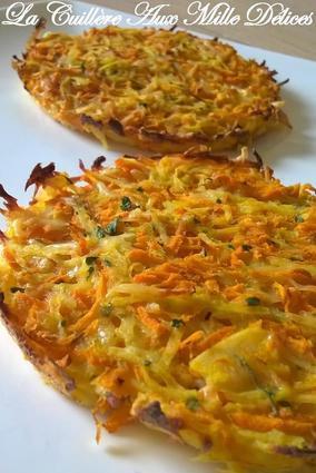Recette de galette de pommes de terre et carottes
