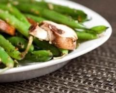 Recette salade de haricots verts et champignons de paris