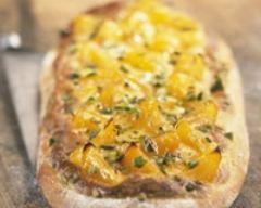 Recette pizza aux abricots et au miel