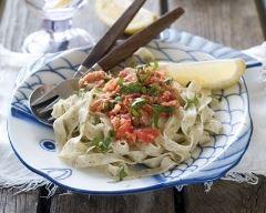 Recette tagliatelles au thon à la sauce tomate