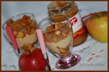 Recette de pommes caramélisées et spéculoos façon trifle