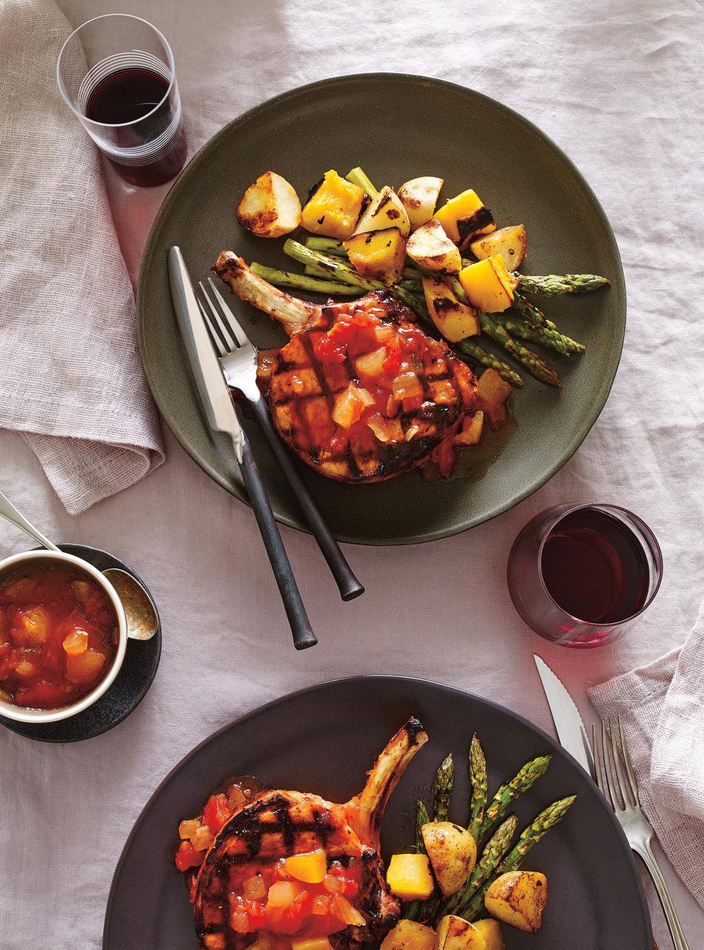 Côtelettes de porc au ketchup aux fruits | ricardo