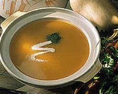 Recette soupe de courge sauce harissa