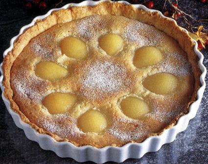 Recette de tarte aux poires et à la poudre d'amandes