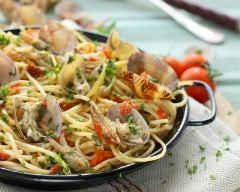 Recette spaghetti alle vongole (spaghettis aux palourdes)