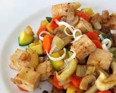 Recette sauté de tofu et légumes sans gluten