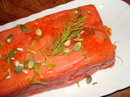Recette de terrine aux deux saumons et fromage de chèvre
