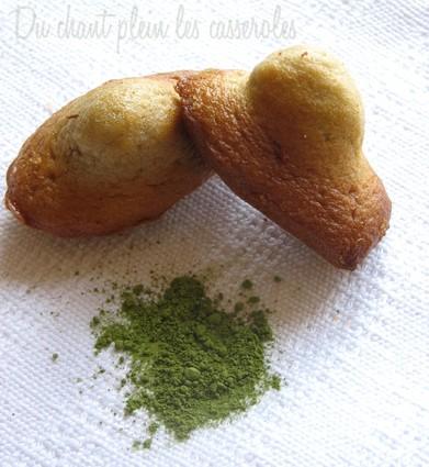 Recette de madeleines au beurre salé et au thé matcha