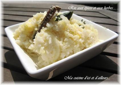 Recette de riz aux épices et aux herbes