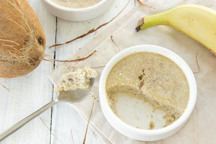 Recette de moelleux banane coco, sans beurre et sans farine