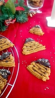 Recette de biscuits sapin de noël aux amandes et patates douce