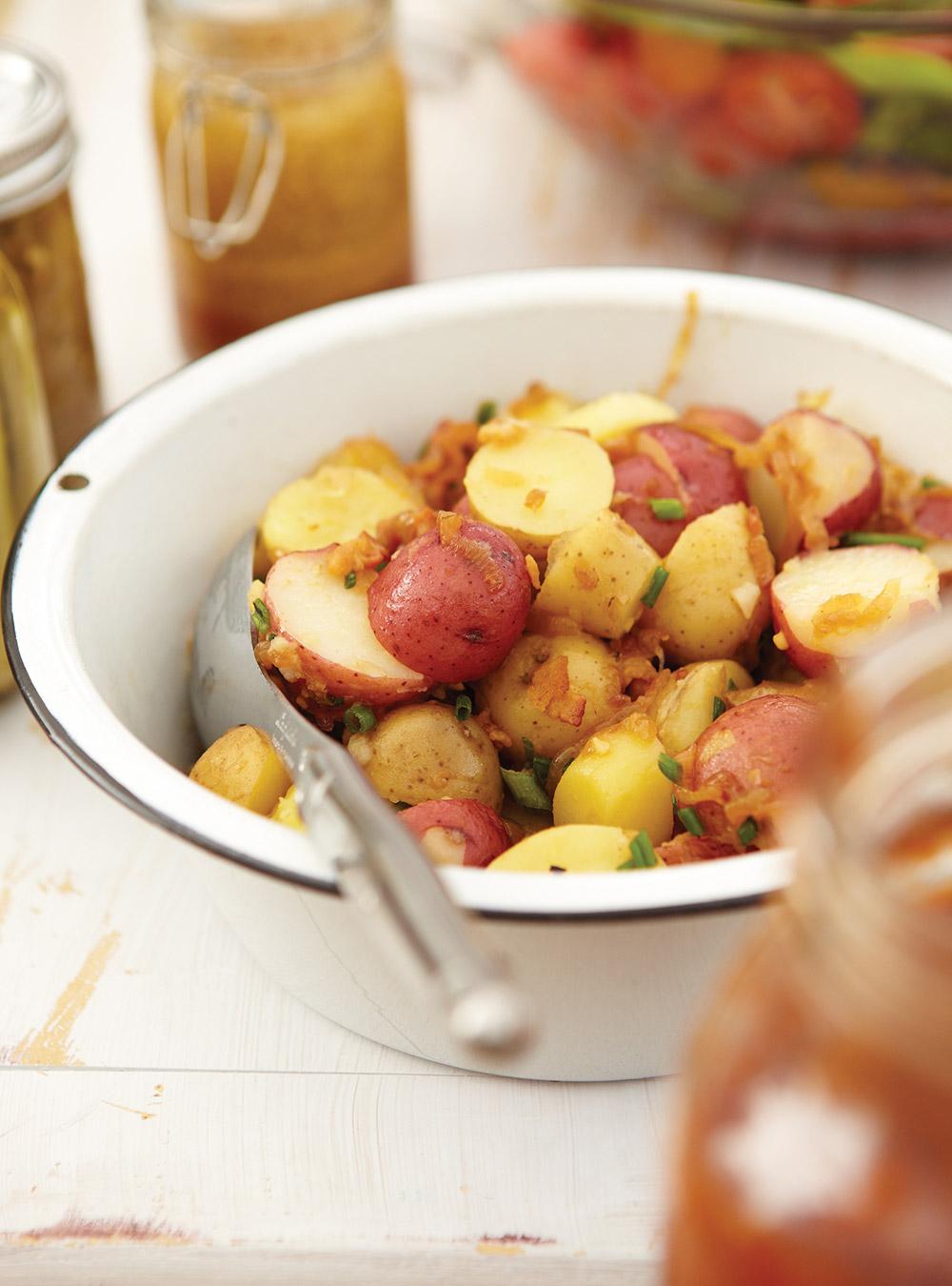 Salade de pommes de terre au bacon | ricardo