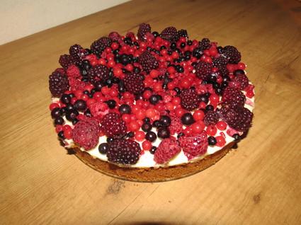 Recette de cheesecake au chocolat blanc et fruits rouges