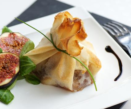 Recette de brick au foie gras mi-cuit et aux poires
