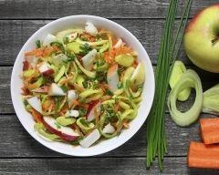 Recette salade de céleri, carottes et pomme